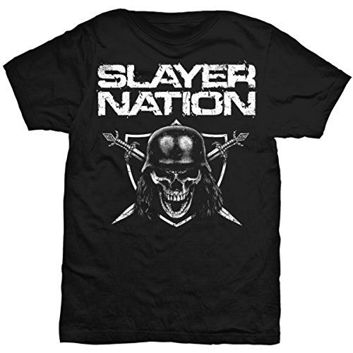 Rockoff Trade Slayer Nation Camiseta, Negro (Black), Medium para...