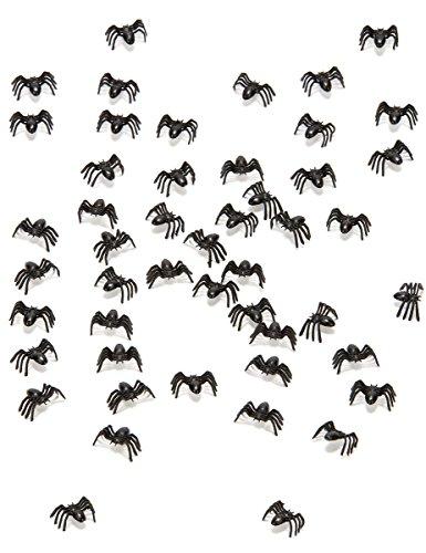 50 * MINI-SPINNEN * als Deko für Halloween oder eine Grusel-Party // Motto Spinne Dekoration