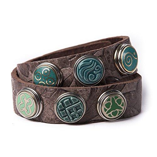 Noosa Armband Wrap Bracelet Double Skinny embossed chocolate brown, Grösse:S (Gürtel-armband-armbänder)