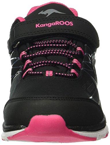 KangaROOS Chupit, Baskets Basses Mixte Enfant Noir - Schwarz (black/magenta 565)