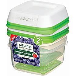 Sistema FreshWorks Small Square Storage Container 591ml - 2 Pack