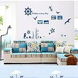 Adesivi e murali da parete Soggiorno adesivo da muro casa in pvc stella marina cavalluccio marino decorazione adesivo