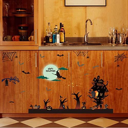 daufkleber Halloween Dekoration Wandtattoos Vintage Post Abnehmbare Aufkleber Möbel Aufkleber Dekoration ()