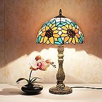 Lampada da tavolo Tiffany moderna romantica camera nuziale lampada europeo matrimonio minimalista comodino decorato a mano