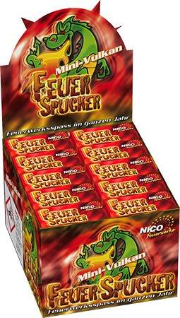 40 x Ganzjahresfeuerwerk Jugendfeuerwerk Rot - Feuerspucker Qualitätsfeuerwerk