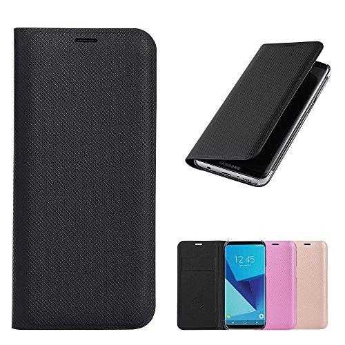 Flip Samsung Galaxy S8 Plus Hülle Etui Wallet Brieftasche, Schwarz pu Leder, Ganzkörper Schutz nach Samsung S8 Plus handy Telefon, Premium Qualität Mit Karte Slot