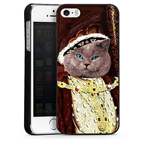 Apple iPhone 6 Housse Étui Silicone Coque Protection Chat « Edelmann » Chat Chat CasDur noir