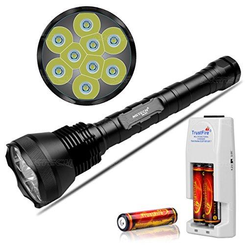 nktech Super Hell nk-9t69x T6LED 11000LM Taschenlampe Taschenlampe Passform Camping Jagd und 3x Trustfire 186503000mAh Akku PCB geschützt Board + TR001Dual Multifunktional Ladegerät