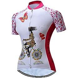 Shenshan Ciclismo Jersey Mujeres Bicicleta Maillots Sport MTB Carretera Montaña Blusa Manga Corta Bicicleta Camisetas Top Outdoor Jinete Jersey–Chaqueta de Ciclismo, Mujer, Color Rosa, Tamaño Large