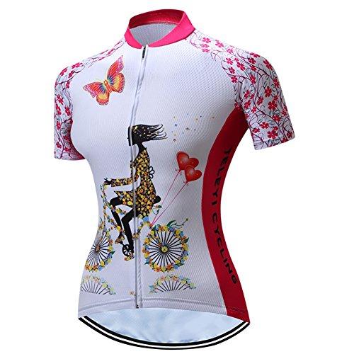 Radfahren Jersey Frauen Fahrrad Trikots Rosa MTB Straßenberg Bluse Kurzarm Fahrrad T-Shirts Top Outdoor Reiten Jersey Fahrrad Jacke Schwarz Größe XXL