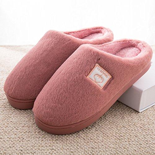 DogHaccd pantofole,In inverno il cotone pantofole borsette con coppie di spessore pantofole di peluche home home non - slip caldo pantofole maschio Pelle rosso