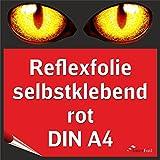 Reflexfolie, rot reflektierend und selbstklebend, DIN A4 von Interfoil®