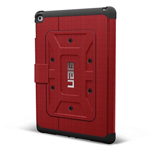 Urban Armor Gear Schutzhülle nach US-Militärstandard für Apple iPad Air 2 - rot [Verstärkte Ecken | Wake/Sleep | Sturzfest | Antistatisch | Standfunktion] - UAG-IPDAIR2-RED-VP