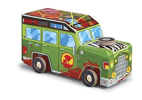 Crocodile Creek Safari Truck Puzzle in Fahrzeug geformten Box (48Stück), 20,3cm (Crocodile Creek-48 Teile Puzzle)