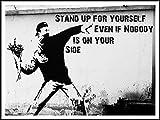 imagenation Banksy 'Stand Up For yourself'-60cm x 80cm impresión en láminas autoadhesivas papel Póster