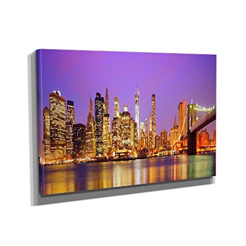 new-york-at-night-kunstdruck-auf-leinwand-40x60-cm-zum-verschonern-ihrer-wohnung-verschiedene-format