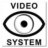 10 Stück 5cm Video System Aufkleber Sticker Warnung Hinweis Balkon Tür Fenster Rahmen