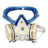 Babimax Máscara Seguridad con Gafas Respirador de Cara Completa de Industrial Chemical Mascarilla para Pintura Aerosol Grande Respiradora Anti-polvo
