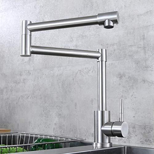 YHSGY Küchenarmatur Kitchen Sink Armaturen Finish Klapp Küchenarmaturen Einhand Nickel Gebürstet Mixer Bar Taps Bad Waschbecken Wasserhahn -