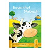 Grätz Verlag Kinder lieben Ausmalen! - Malbuch DIN A4, ab 3 Jahre, Bauernhof mit verschiedenen Tier- und Bauernhofmotiven wie Bauernhaus, Kuh, Schwein, Stall, Traktor, für Jungen und Mädchen