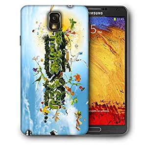 Snoogg Thank You Printed Protective Phone Back Case Cover for Samsung Galaxy Note 3/Note III