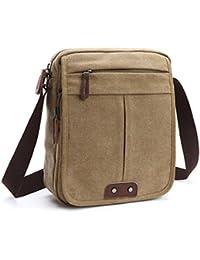 Outreo Hombre Bolso Bandolera Vintage Messenger Bag Bolsas de Viaje Bolsos Originales Bolsos de Tela para Colegio Libro Tablet Bolsa