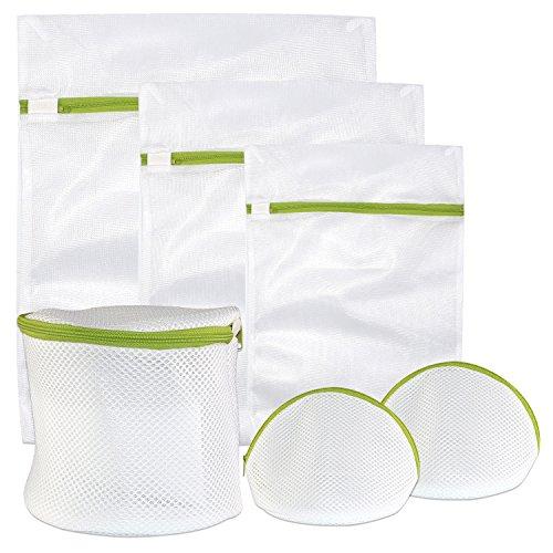 Wäschesack, Espoy Set von 6wiederverwendbar Reißverschluss Mesh Waschen Tasche, Netz Waschen Tasche für BH/Dessous/Socken/Baby Kleidung Feinwäsche Waschen Tasche für Waschmaschine (Mesh-bh Bag Wash)