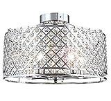 Deckenleuchte Kristall Design elegante Kronleuchter Wohnzimmer Leuchte Deckenlampe Lüster Ø 50cm 5x E14