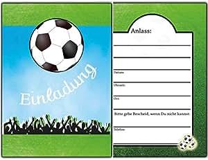 Einladungskarten fussball kindergeburtstag einladung for Amazon einladungskarten