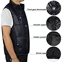 Sunbond Rechargeable Heated vest,7.4v 2600mah li-Ion Batteries for Quick & Even Heating, Works up to 7 hours,useing as bicycling, Motorcycling, Fishing, Skiing, Snow Plowing, and Walking in a cold weather