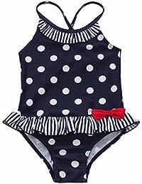 0f393c0a3 Freebily Bañador Una Pieza a Lunares Estampado Bikini para Bebé Niña (12  Meses a 7 Años) Ropa Traje de Baño Verano…