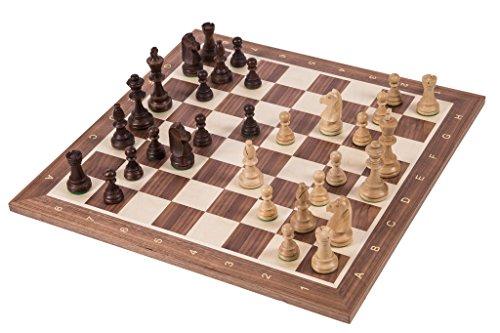 Pro-Schach-Set-Nr-6-SQUARE-ITALIEN-Schachbrett-Schachfiguren-Staunton-6-Kasten-Schachspiel-aus-Holz