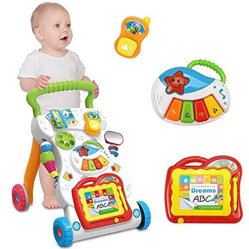 Baby Walker Kinderwagen mit Musik, Spielzeug, Mamum Baby Kids Cartoon Walker Buggy Multifunktionales Baby Kleinkind Musik Spielzeug