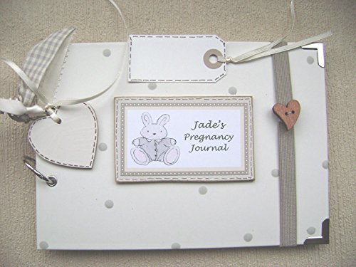PERSONALISED A5 SIZE PHOTO ALBUM, SCRAPBOOK, MEMORY, GUEST BOOK, MULTI USE GIFT. pregnancy journal. 21CM X 15CM