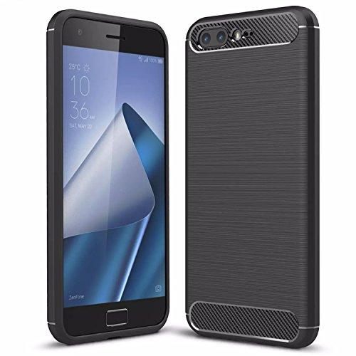"""Handy Lux® Schutz Hülle Case Cover TPU Silikon für Apple iPhone 7 4,7"""" - Grau Schwarz"""