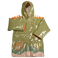 Kidorable Dinosaur Raincoat, Green, 3T Size: 3T Color: Green, Model: Dinosaur