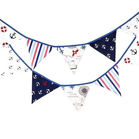 Cdet Fanions Bannière Banderole en Coton Décor pour Fête de Mariage Photo Prop Pirate enfants décoration à thème anniversaire de fanion