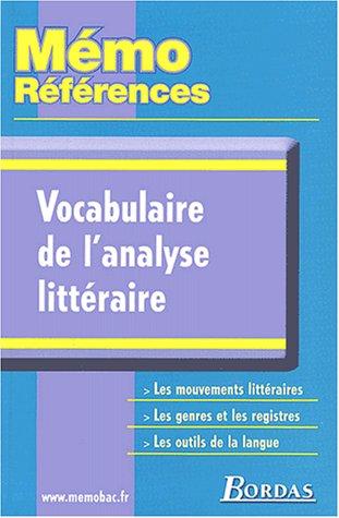 Vocabulaire de l'analyse littraire