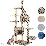 Happypet® CAT009-2 Kratzbaum Katzenbaum deckenhoch 2,30 bis 2,60 hoch Beigepfote
