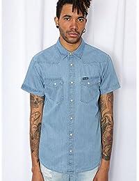 Chemise à manches courtes S/S Western Bleu WRANGLER