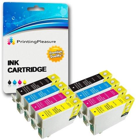 Preisvergleich Produktbild 8 XL Tintenpatronen kompatibel zu Epson T1281-T1284 (T1285) für Stylus S22 SX125 SX130 SX235W SX420W SX425W SX435W SX438W SX445W SX445WE Office BX305F BX305FW BX305FW Plus - Schwarz/Cyan/Magenta/Gelb, hohe Kapazität