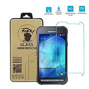 tinxi® Protection écran Samsung Galaxy XCover 3 Film de protection d'écran en verre trempé pour Samsung Xcover 3 protecteur optimal et ultra dur protecteur d'écran en verre trempé Transparent 2.5D