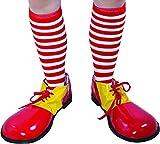 P 'tit Clown re72155–Socken Clown-gestreift rot und weiß
