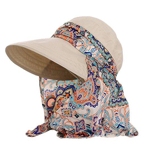 Flyfish Frauen-Dame Wide Brim Cap Visor Hüte UV Schutz Sommer Sonnenhüte (02) Brim Fedora-hut
