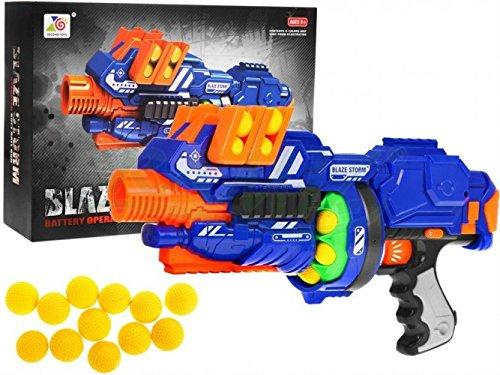 Blaze Storm - Blaster Automático de Juguete - Azul
