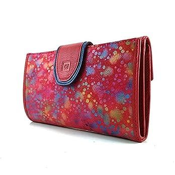 Geldbörse Damen, Handmade Spanien, Portemonnaie Damen, Casanova, Gemacht Aus Haut, Ref. 25518 Rot