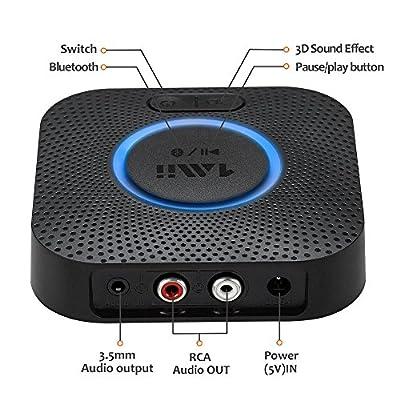 1Mii B06 Plus récepteur Bluetooth Adaptateur Bluetooth V4.2 tragbare Récepteur sans Fil Adaptateur Audio appareils fürheim HiFi Auto Enceinte Musique STR Sound System avec 3D de 1Mii - Housses , Chargeurs , Kindle & Fire, Etuis