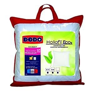 Dodo Hollofil Eco2- 1 Oreiller Classique 65 x 65 cm Synthétique Moelleux