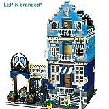 Ingenious Toys sin Marca - Grande Azul Street Casa Parque Infantil 3 Nivel 1275 Piezas - Estupendo Value Compatible Bricks #15007