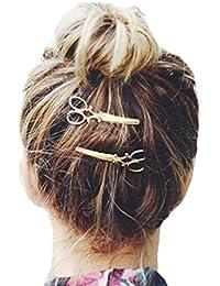 1PC Joyas para el pelo, Sannysis pelo delicado Clip Pin garra accesorios, Clip de pelo (Oro)